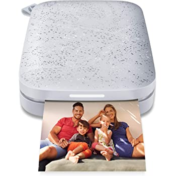 HP Sprocket Portable 2x3 Instant Photo Printer (Luna Pearl) Print Pictures on Zink Sticky-Backed Paper from Your iOS & Android Device.