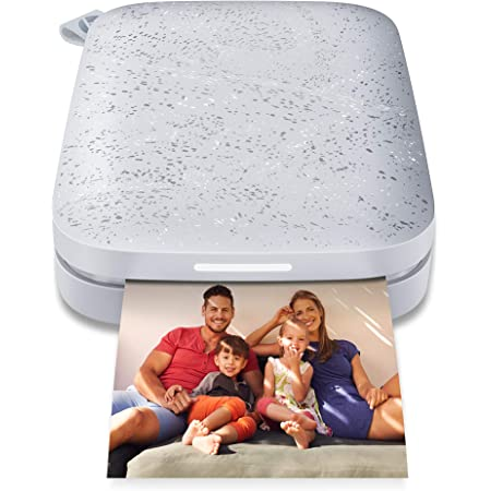 """HP Sprocket Portable 2x3"""" Instant Photo Printer (Luna Pearl) Print Pictures on Zink Sticky-Backed Paper From Your iOS & Android Device"""