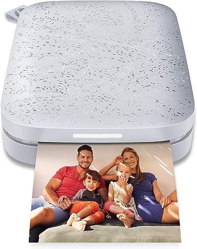 """HP Sprocket Imprimante photo portable (Luna Pearl) Imprime instantanément des photos autocollantes ZINK 2x3 """"à partir..."""
