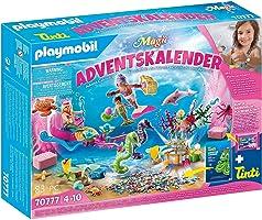 PLAYMOBIL Adventskalender 70777 Badespaß Meerjungfrauen mit vielen Überraschungen z.B. Farben der Meerjungfrauen ändern...