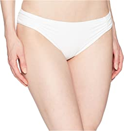 MICHAEL Michael Kors Solids Side Shirred Bikini Bottom