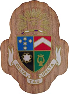 Delta Tau Delta Fraternity Wood Crest Made of Wood for Paddle Mascot Board Delts (1.5 Inch Tall Single Raised)