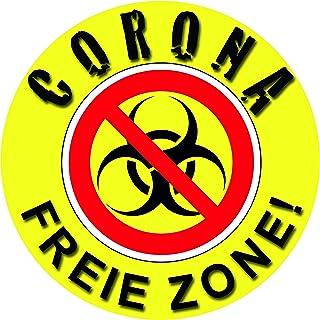 1A Style Sticker Corona Virus Aufkleber Virus Corona FREIE Zone