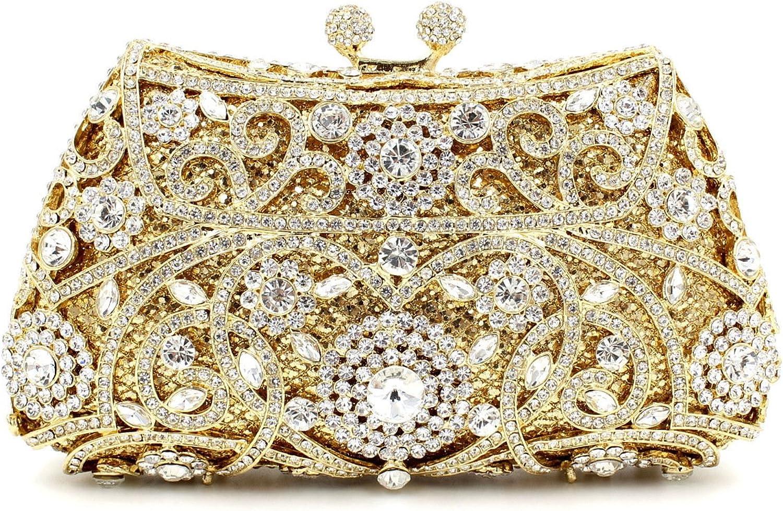 Ms. Hand Bag Luxury Diamond Metal clad Crystal Diamond Ladies Evening Bag Hand Bag,golden