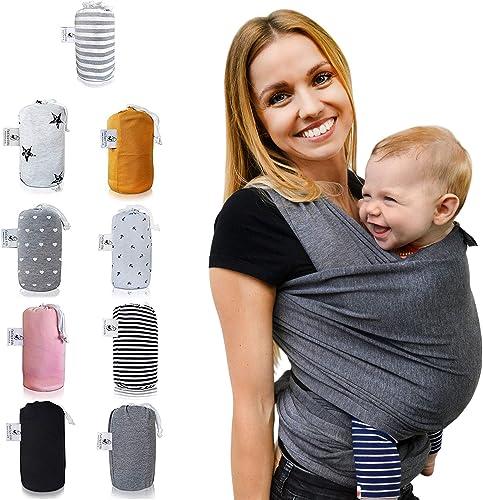 Tragetuch Babytragetuch Babytrage Baby Bauchtrage bis 20KG 100/% Baumwolle 5M