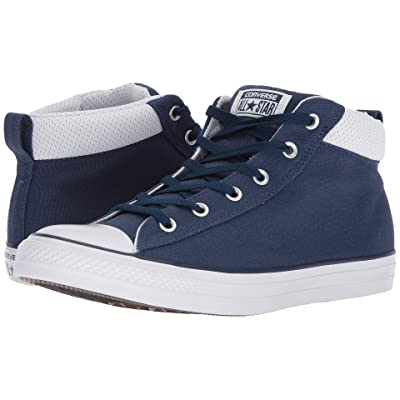 Converse Chuck Taylor(r) All Star(r) Street Mid (Navy/Navy/White) Men