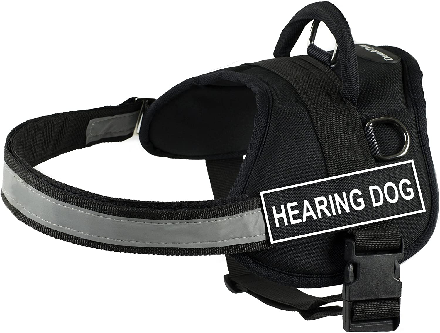 DT Works Harness 4 years warranty Hearing Dog Black White - Max 61% OFF XX-Small Fits Girt