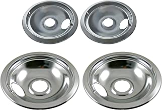 ClimaTek Stove Range 8 Black Burner Drip Pan Bowl fits 2195300 4336202 4336680