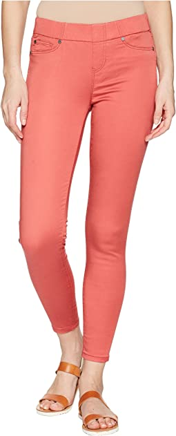 Chloe Ankle Pull-On Leggings in Micro-Peached Twill in Bossa Nova