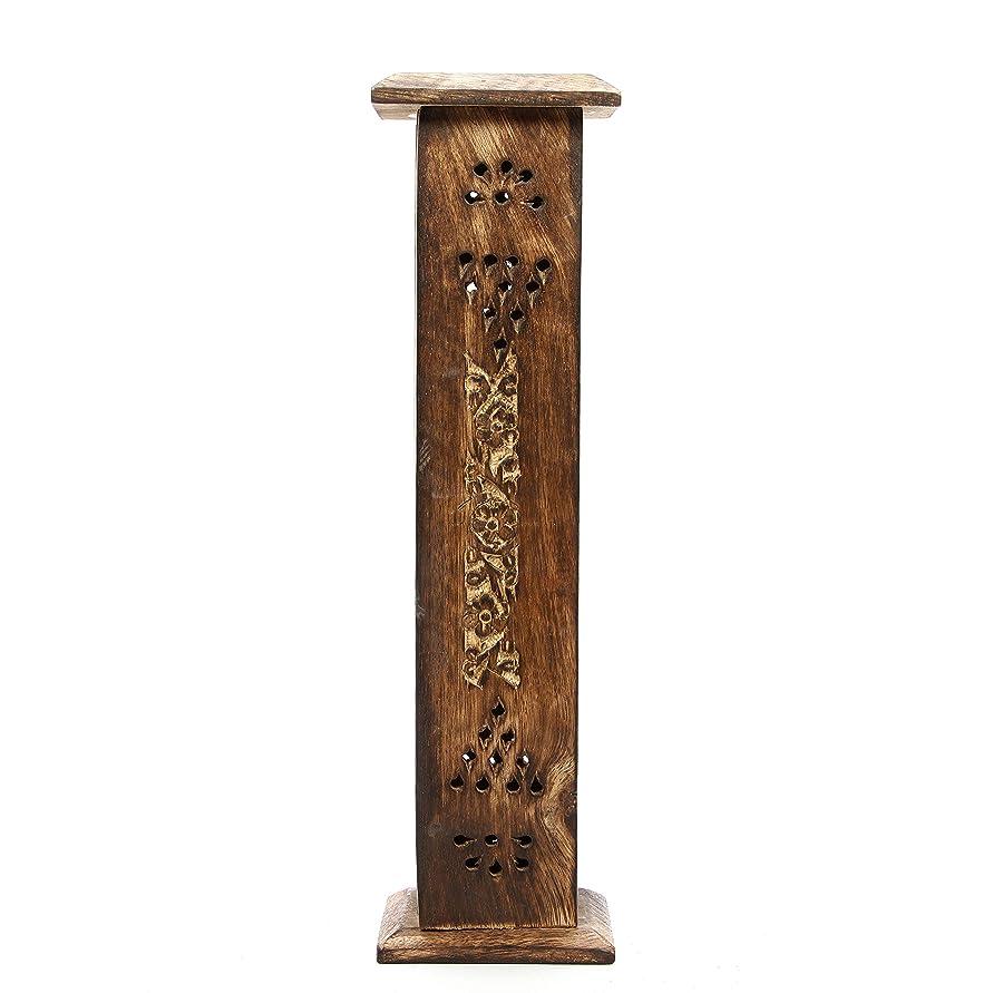 したがって報いるなぞらえるHosley's Wood Incense Tower with 20 Incense Sticks - 30cm High. Ideal Gift for Aromatherapy, Zen, Spa, Vastu, Reiki Chakra Votive Candle Garden Settings. Bulk Buy