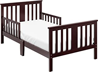 Storkcraft Mission Ridge Toddler Bed Espresso, Fits Standard-Size Toddler Mattress (Not Included), Guardrail on Both Sides, Meets or Exceeds all Federal Safety Standards, Pine & Composite Construction