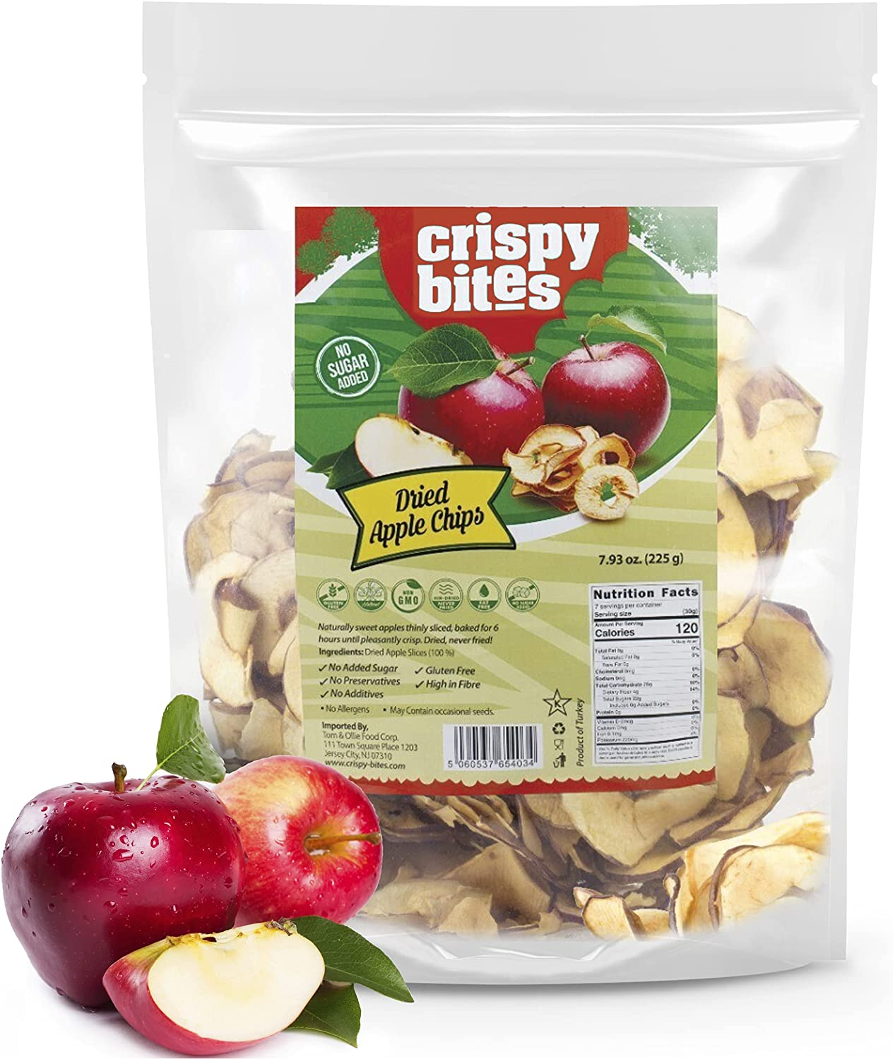 Crispy Bites Original Apples Chips Made from 100% Fresh Red Delicious Red Apples 7.93Oz