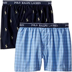 Polo Ralph Lauren Kids - 2-Pack Woven Boxers (Little Kids/Big Kids)