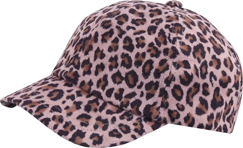 RaOn B455 Trendy Women Leopard Pattern Bill Short Brim Ball Cap Baseball Hat Truckers