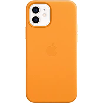 Apple Leather Case with MagSafe (for iPhone 12 mini) - California Poppy