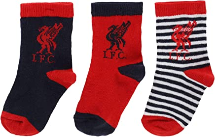 cd60cabec28 Liverpool FC Red Baby Boy Football 3 Pack Socks AW 18 19 LFC Official