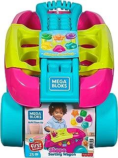 Mega Bloks Building Basics Shape Sorting Wagon Building Set, Pink