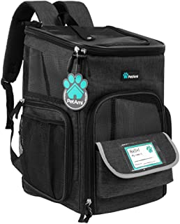 PetAmi Pet Carrier Backpack for Small Cats, Dogs, Puppies | Airline Approved | Ventilated, 4 Way Entry, Safety and Soft Cu...