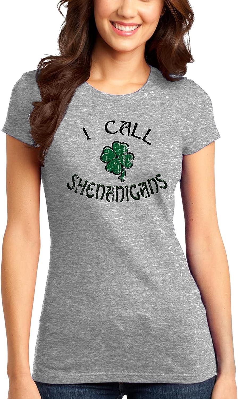 TOOLOUD Lucky Shamrock Design Distressed Womens Dark T-Shirt