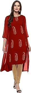 تونيك هندي من جاناسيا بلوزة كريب كورتي للنساء