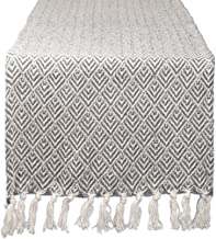 """DII CAMZ11267 Braided Cotton Table Runner, Perfect for Spring, Fall Holidays, Parties and Everyday Use 15x72"""" Gray"""