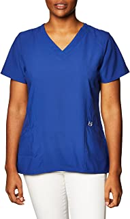 WonderWink 6155AGALALG W123 Women's Stylized V-neck Top, Galaxy Blue, Standard-L Size