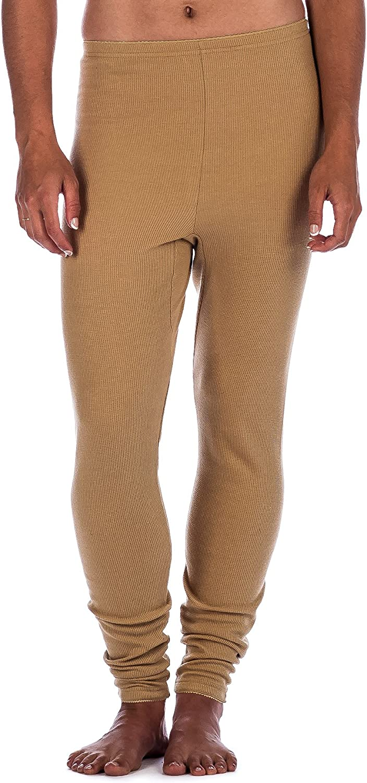Noble Mount Womens Waffle Thermal Long John Underwear Bottoms
