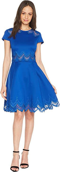 Rehanna Embroidered Cap Skater Dress