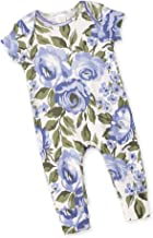 Tesa Babe Floral Short Sleeve Rompers for Newborns, Baby Girls & Toddlers