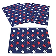 C&F Home Liberty Stars 14x19 inches Place Mats Set of 4