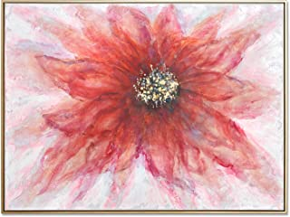 MOTINI Flower Painting Canvas Framed Wall Art Large 36 x 48 Inch, 100% Hand-Painted Artwork for Living Room Bedroom Wall