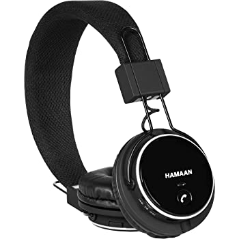 Hamaan H-20 Super Bass Wireless/Wired Bluetooth V4.1 On-Ear Headphones (Black)
