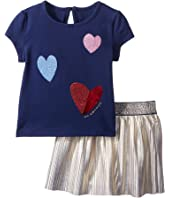 Kate Spade New York Kids - Tossed Hearts Skirt Set (Infant)