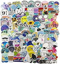 Stickers for Water Bottle, Big 100-Pack Cute Vinyl Waterproof Trendy Sticker for Teen Girl, Fashion Decal for Laptop Phone Travel Case Skateboard