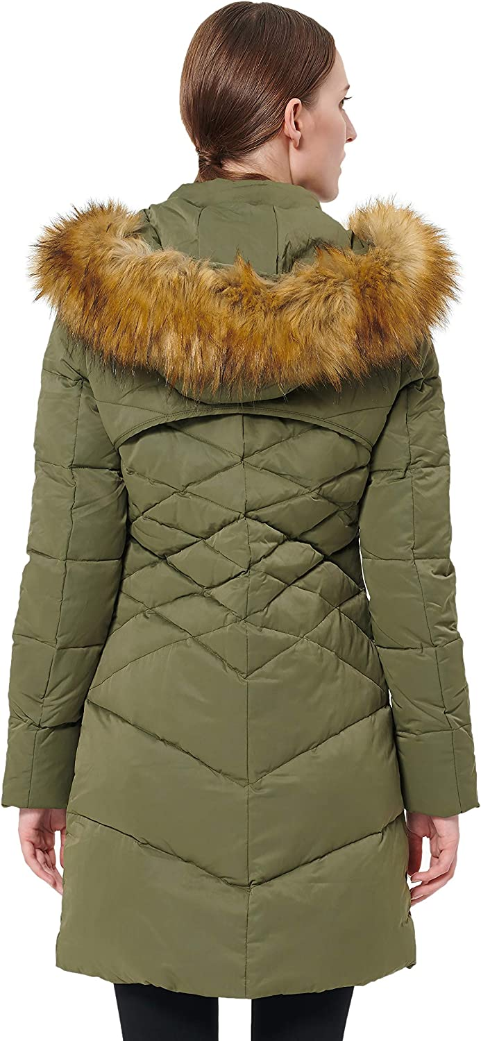Orolay Womens Quilted Down Jacket Puffer Coat with Detachable Hood
