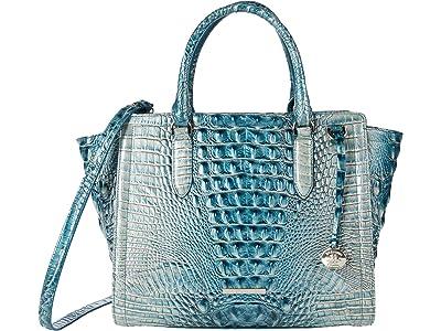 Brahmin Ombre Melbourne Aubree Satchel (Petrol) Handbags