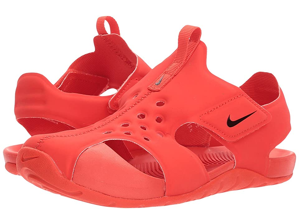Nike Kids Sunray Protect 2 (Little Kid) (Habanero Red/Black/Habaner Red) Boys Shoes
