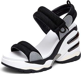 Ash Women's Cosmos High Platform Sandal Sneaker Casual Walking Open Toe Shoes for Travel/Walking/Casual/Beach