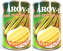 Aroy-D Bamboo Shoot (Tips) In Water 19 Oz(2 Pack)