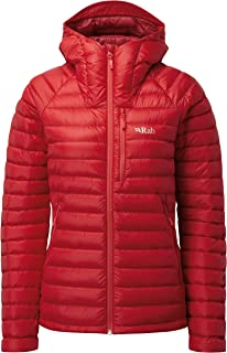 RAB Microlight Alpine Jacket - Women's, Ruby/Crimson, Size 12, QDA-92-RU-12