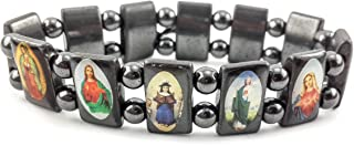 Nazareth Store Hematite Holy Saints Bracelet Flexible Metal Magnetic Therapy All Natural Onyx