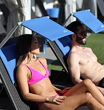 SHADESY-1 Blue Lightweight Portable Lounge Chair Outdoor Sunshade (Sunshade ONLY Chair NOT Included)