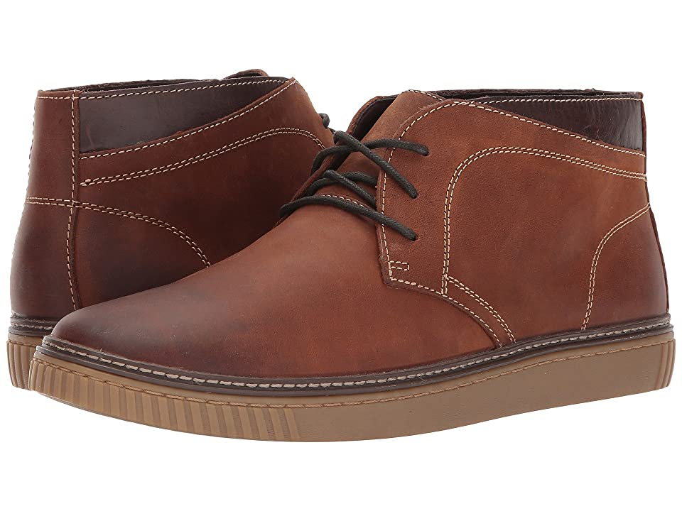 Johnston & Murphy Wallace Casual Chukka Boot (Chestnut Oiled Full Grain) Men