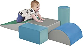 ECR4Kids-ELR-12683F SoftZone Climb and Crawl Activity Play Set – Lightweight Foam Shapes for Climbing, Crawling and Slidin...