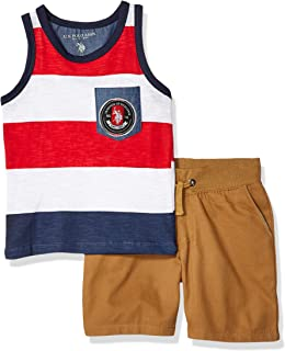 U.S. Polo Assn. Boys' 2 Piece Tank Top and Short Set