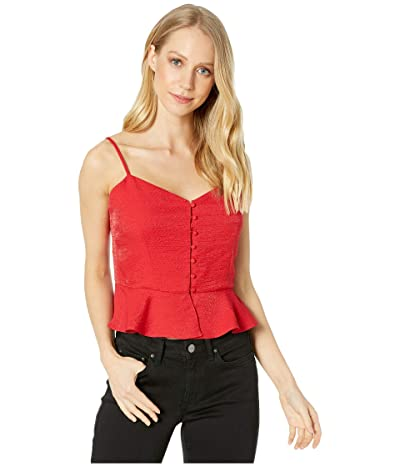 WAYF Vanessa Button Front Cami (Red) Women