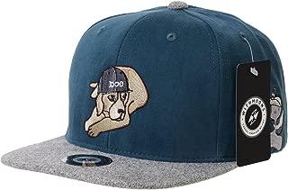 WITHMOONS Snapback Hat Dog Embroidery Flat Brim Baseball Cap AM2888