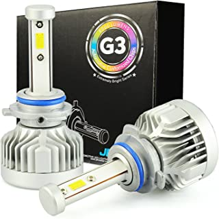 JDM ASTAR G3 8000 Lumens Extremely Bright CVX Chipsets 9006 LED Headlight Bulbs Conversion Kit for Fog light, DRL and Headlights, Xenon White