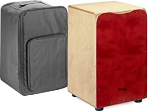 Stagg CAJ-50M RD Medium Sized Cajon with Gig Bag-Red