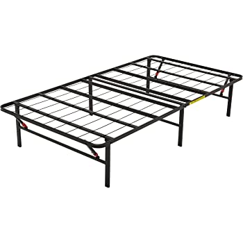 AmazonBasics Foldable, Metal Platform Bed Frame with Tool-Free Assembly, No Box Spring Needed - Twin